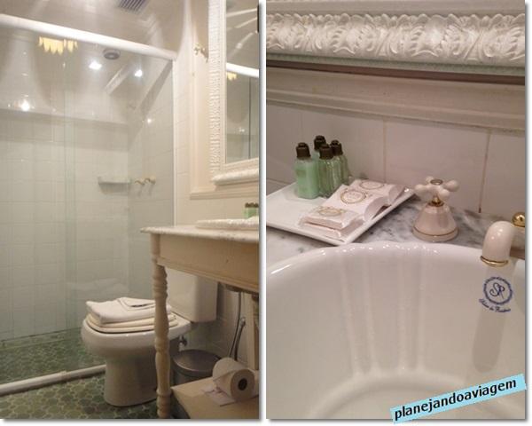 Banheiro parte nova - Hotel Solar do Rosario