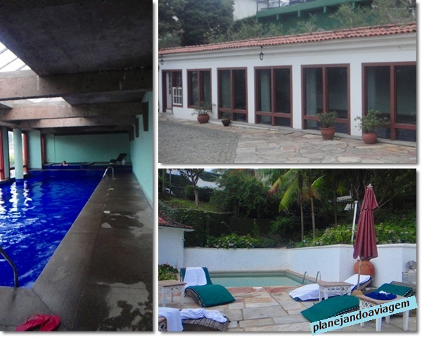 Piscinas cobertas e externa - Hotel Solar do Rosario