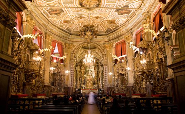 Interior Basilica Nossa Senhora do Pilar (foto: viajeaqui.abril.com.br)