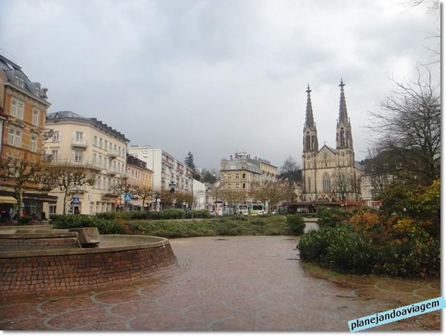 Praça no centro da cidade