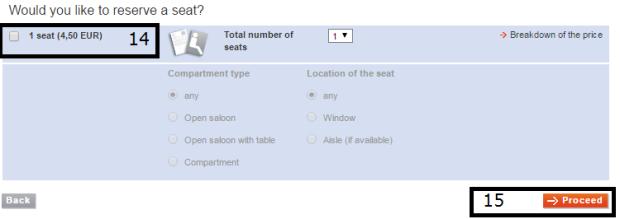 Escolha de assento