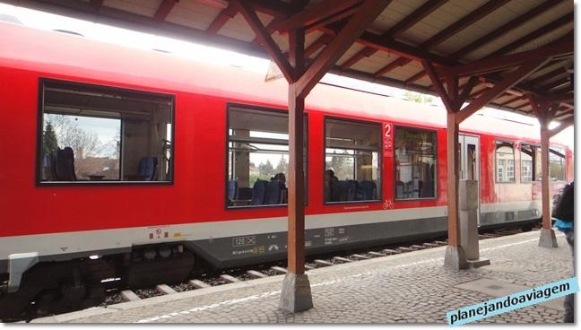 Chegada na Estação Ferroviária