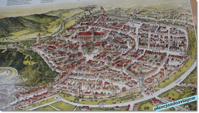 Mapa histórico da cidade