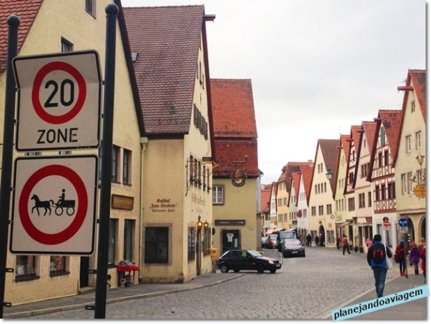 Rua em Rothenburg ob der Tauber