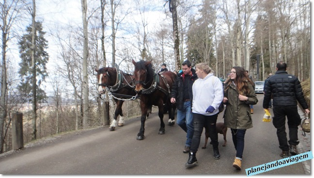 Subindo a pé até o castelo de Neuschwanstein