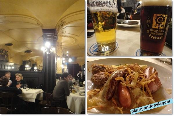 Augustiner - ambiente, prato e cervejas