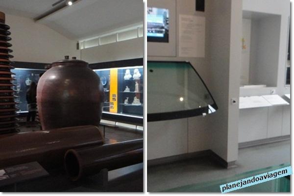 Museu de Ciências - cerâmica e vidro