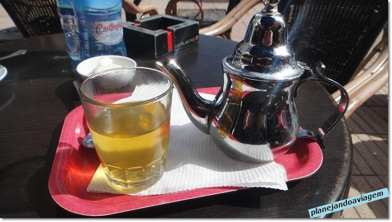 Chá de Hortelã em Essaouira no Marrocos