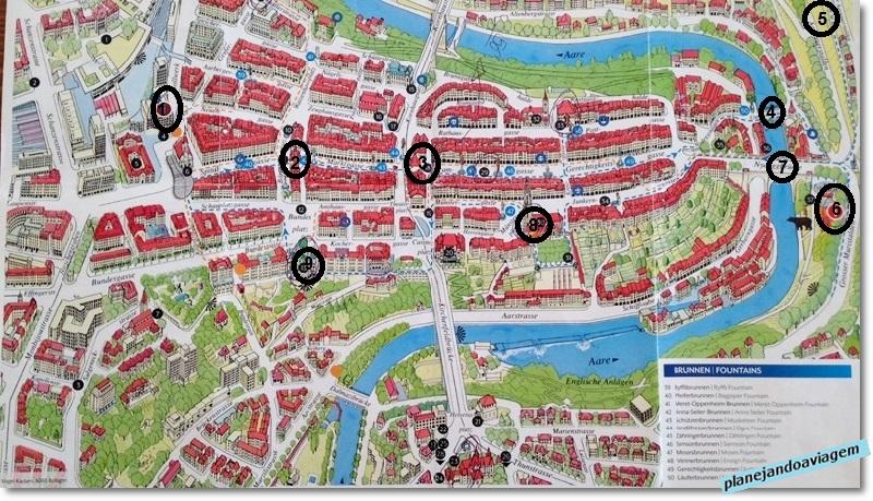 Mapa Turístico de Berna