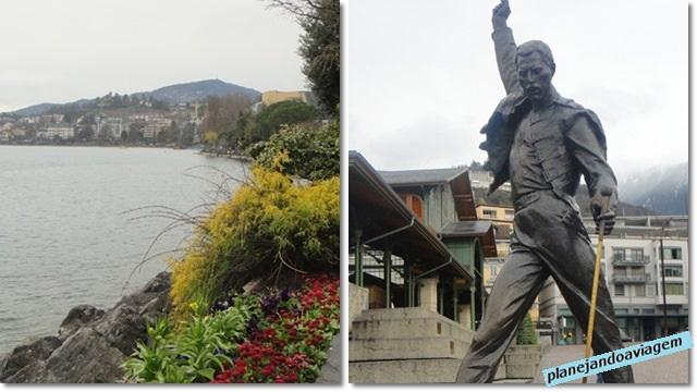 Promenade Montreaux e Estatua Fred Mercury