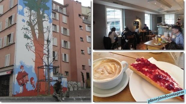 Café da manha no Blackbird e Rue Centrale