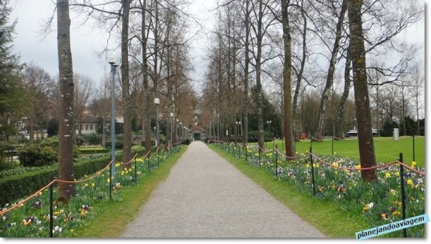 Jardim das rosas em Berna
