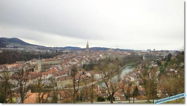 Vista de Berna a partir do Mirante do Jardim das Rosas