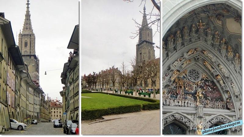 No caminho para catedral, jardins da catedral e detalhes-da fachada da Catedral