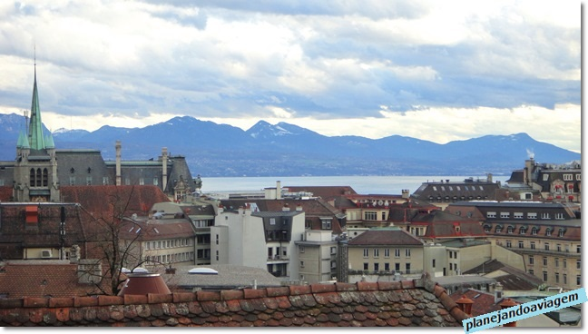 Vista de Lausanne a partir da Catedral