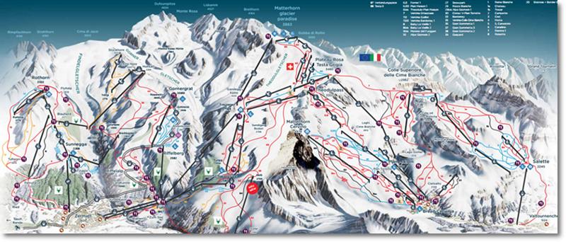 Zermatt - visão geral das pistas