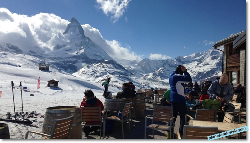 Vista do Matterhorn do Buffet and bar Riffelberg em Gornergrat