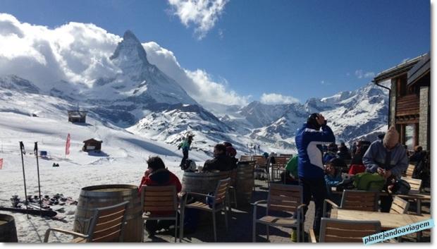 Vista do Matterhorn do Buffet and bar Riffelberg em Gornergrat
