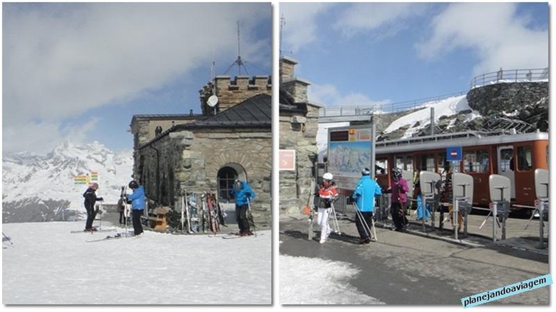 Topo do Gornergrat em Zermatt