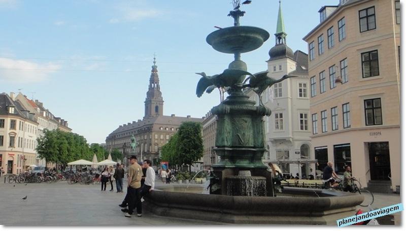 Sstorkespringvandet (Fonte Stork), em Stroget, Copenhagen