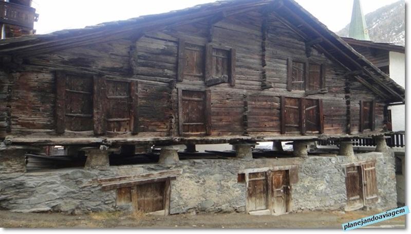 Casas histórcias em Zermatt