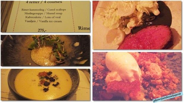 Menu e pratos do Cofoco em Copenhagen