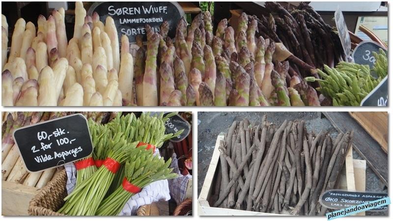 Mercado Gastronomico de Torvehallerne - aspargos