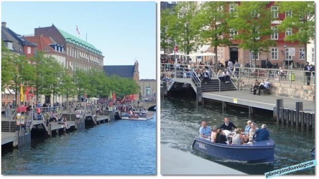 Canais em Copenhagen
