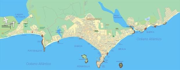 Mapa de Punta del Este