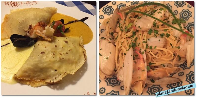 Pratos do Leonardo Etxea (esquerda) e Mi Piace (Direita) em Punta del Este