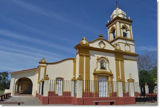 Capela San Roque na Ruta 97 em Carmelo