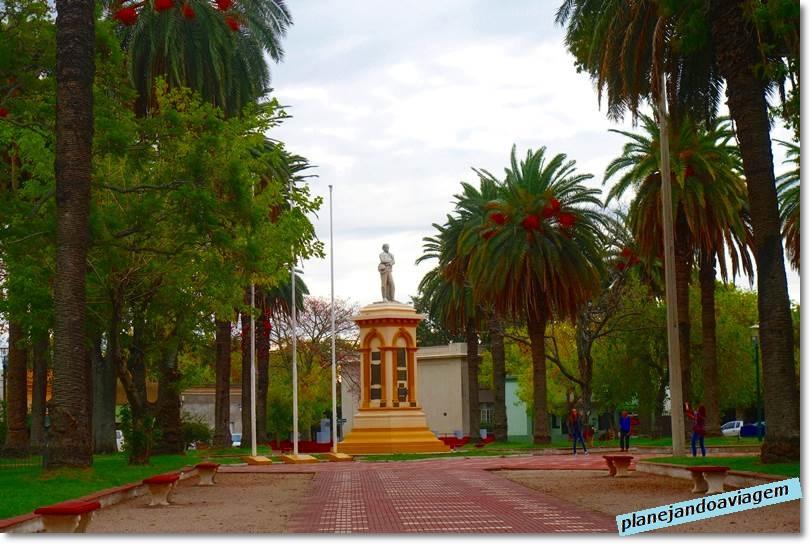 Plaza Artigas em Carmelo no Uruguay