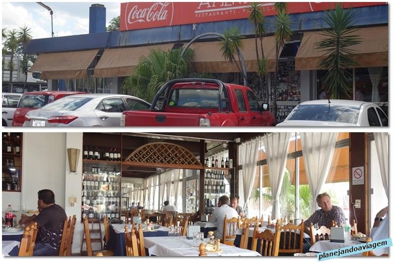 Fachada e interior do Restaurante America em Tacuarembo