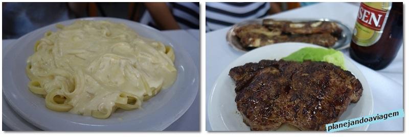 Pratos no Restaurante America em Tacuarembo
