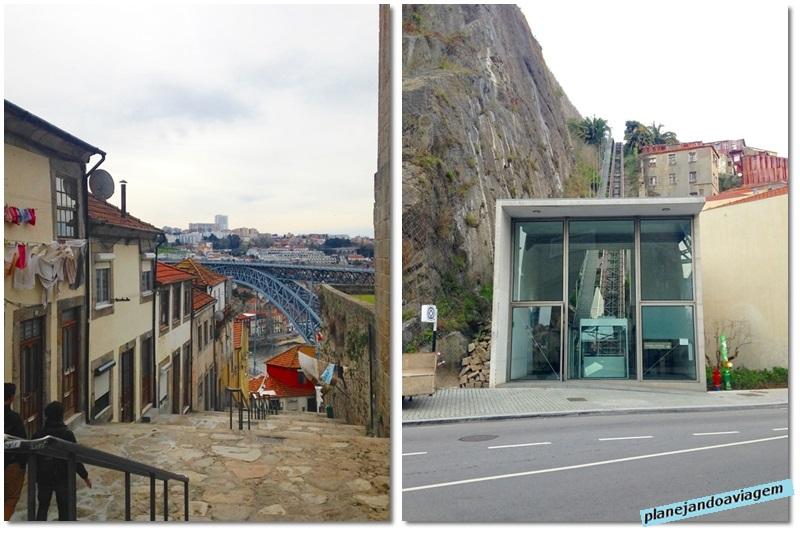 Cidade do Porto - Ladeira e funicular para acesso ao porto turistico