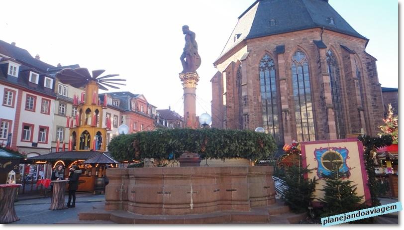 Heidelberg - mercado de natal no centro historico