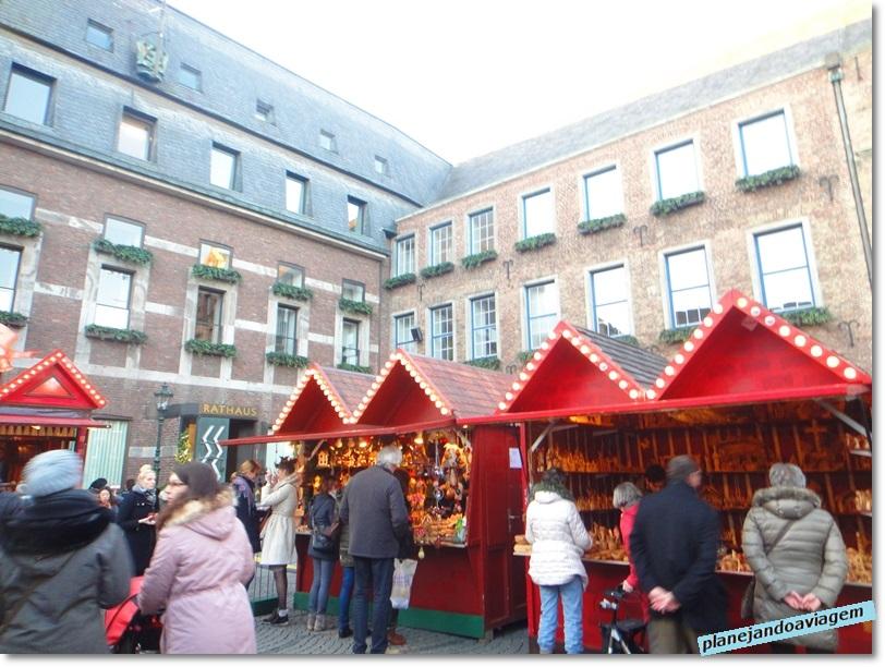Bancas no Mercado natalino Handwerker-Makrt em Dusseldorf