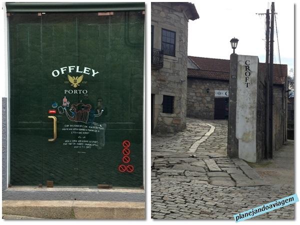 Entrada da vinícolas Croft em Vila Nova Gaia e Porta da Vinícolo Ofley