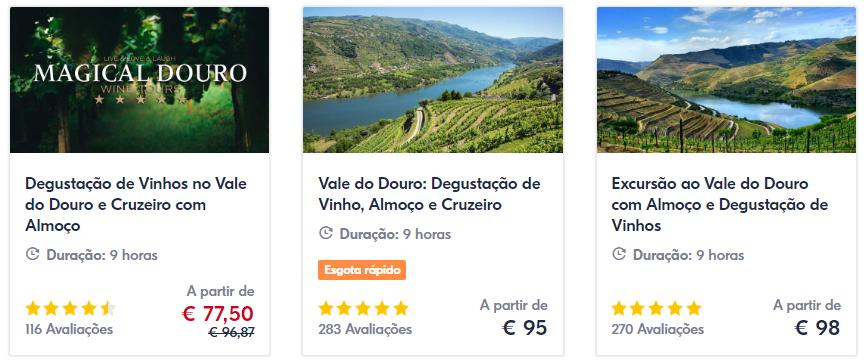 Ingressos para passeios na cidade do Porto e Douro