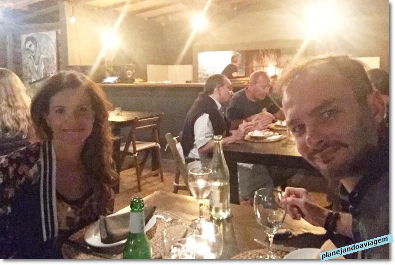 Nós no restaurante Oliva & Sal em Solanas-Portezuelo