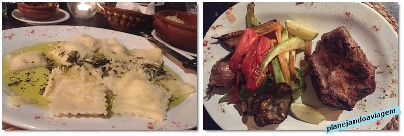 Pratos no restaurante Oliva & Sal em Solanas-Portezuelo