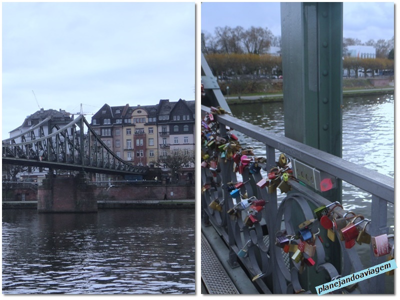 Frankfurt - Ponte Love Lock Bridge (Eiserner Steg)