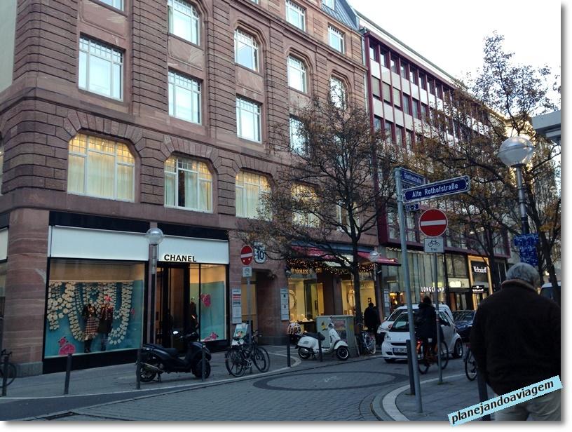 Frankfurt - Goethestrasse - rua das lojas de grife