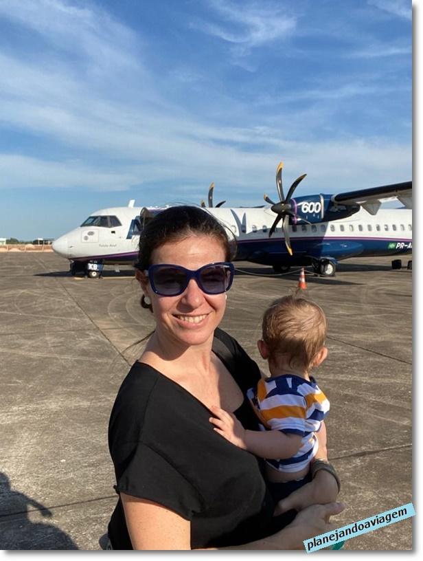 Voo da Azul em um ATR-72