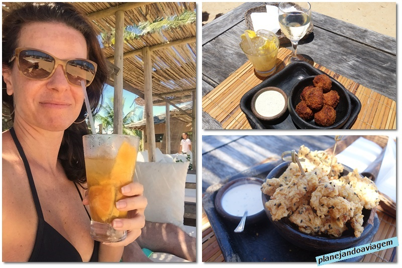 Trancoso - Uxua Beach Club - comidinhas e drinks