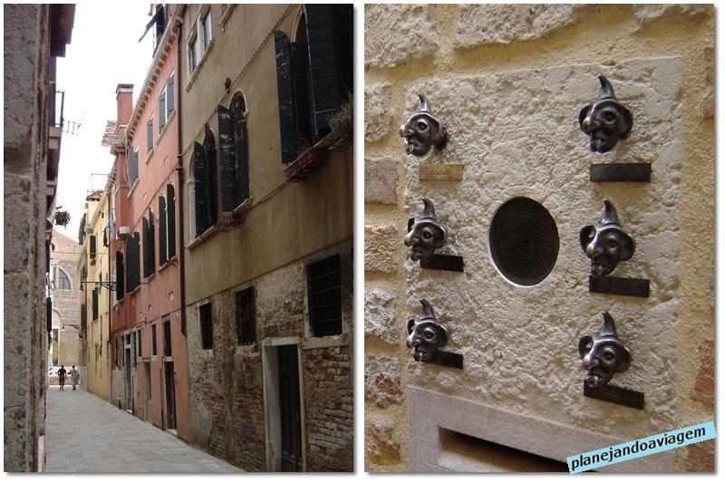 Veneza - ruas e detalhe dos predios