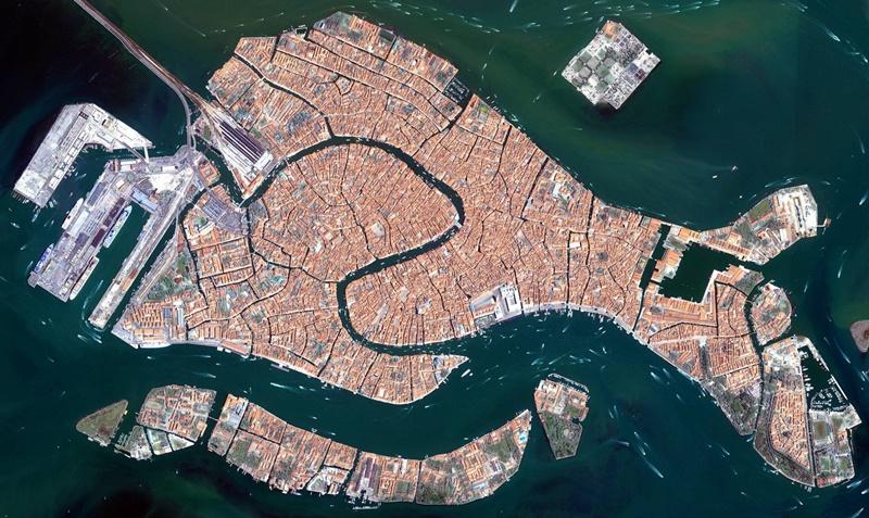 Vista aerea de Veneza