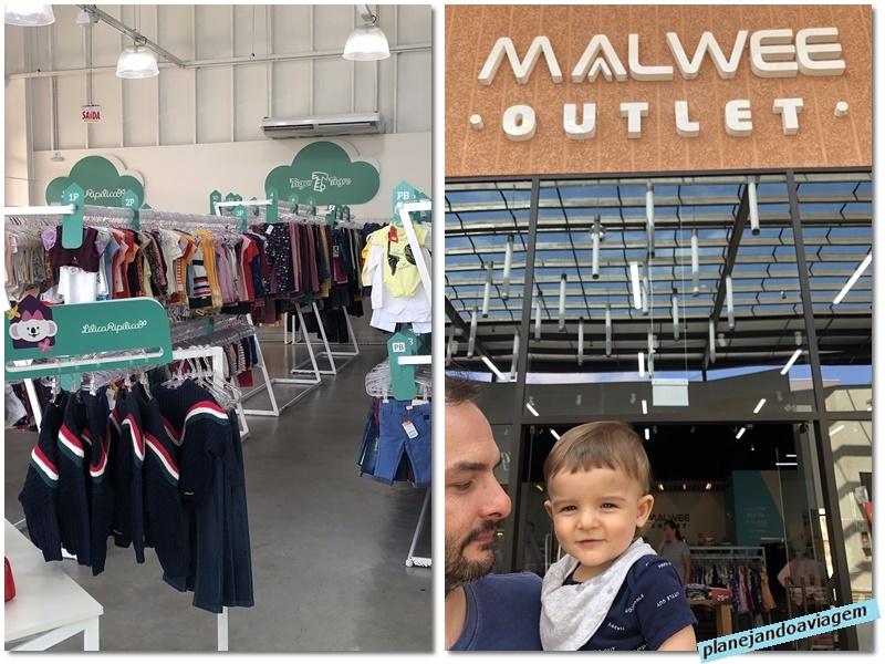 Porto Belo Premiun Outlet - interior loja xx e exterior loja Malwee