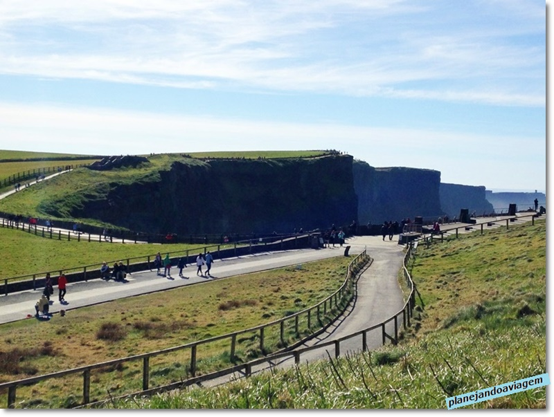 Cliffs of Moher - Acesso a partir da chegada
