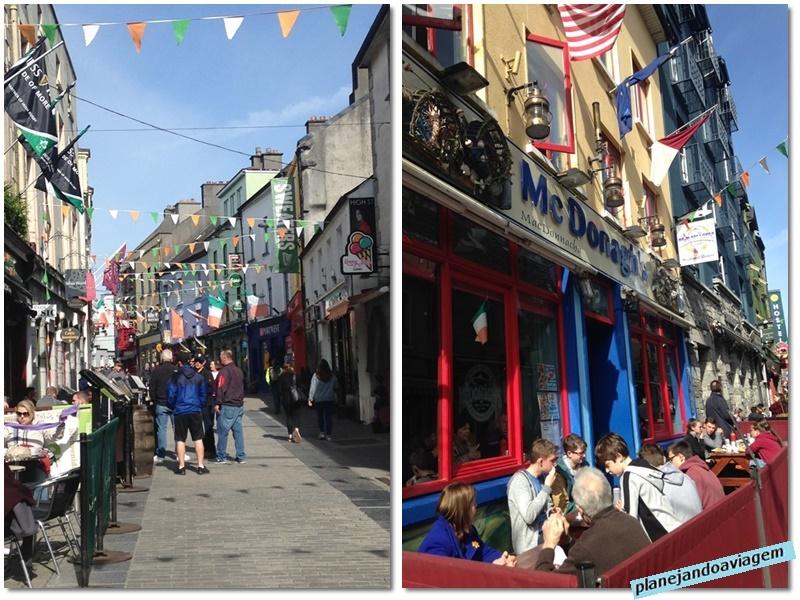 Pubs no centro histórico medieval de Galway